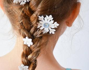Elsa's Snowflakes / Snowflake Hair clips