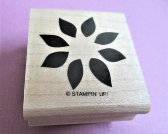 Floral Paper Craft Stamp  DIY Rubber Stamp Set Abstract Floral Card Making Invitations Scrapbooking Planner Goodie Arts and Crafts Supply