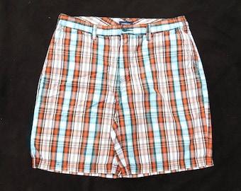 Vintage 90's Men's Plaid Shorts, Preppy men's shorts , Men's Retro Shorts, Grunge Shorts, Cotton summer Shorts , size -34 shorts, # 36