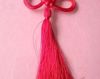 Decorative Chinese / Japanese Lucky Ribbon Knot Bookmark Tassel