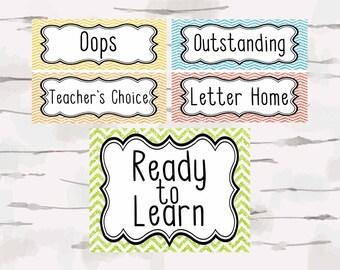Classroom Management Classroom Decor, Teacher Decor, Classroom behavior, instant download, jpg