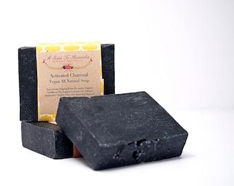 Charcoal Soap 85% Organic (Vegan, All Natural)