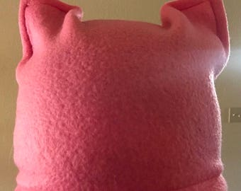 Fleece Pink Cat Hat