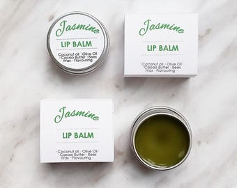 Organic All Natural Jasmine Lip Balm - Moisturising & Nourishing