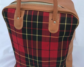 Plaid Tote Carryon Bag Luggage