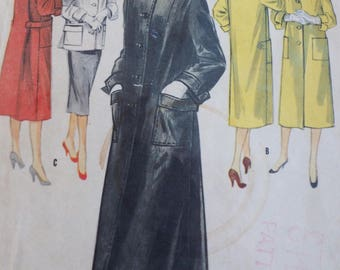 1950's  Vintage Sewing   Pattern McCalls 3330 Misses and Junior Coat  or Topper Size15 Bust 33  UNCUT