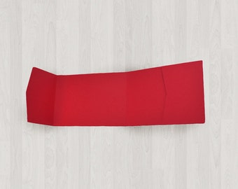 10 Panorama Pocket Enclosures - Red - DIY Invitations - Invitation Enclosures for Weddings and Other Events