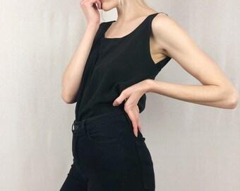 Black Silk Blouse