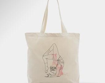 Sac en coton, yoga,  tote bag pour femme