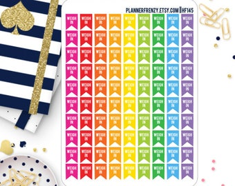 90 Mini Weigh In Flag Planner Stickers! HF145