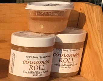 Cinnamon Roll Sugar Scrub - Cinnamon Emulsified Sugar Scrub - Body Scrub