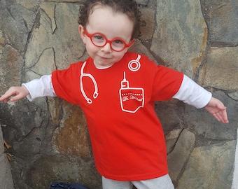 Kids Doctor Shirt, Child doctor shirt, customizable shirt, doctor name shirt, Doctor cosplay, child gift, personalized doctor shirt
