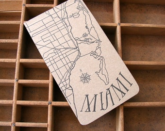 letterpress Miami notepad