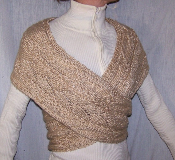 instant download knitting pattern wrap sweater for women