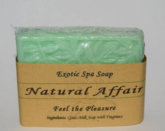 Free Shipping! Handmade Exotic Spa Goats Milk Soap by Natural Affair