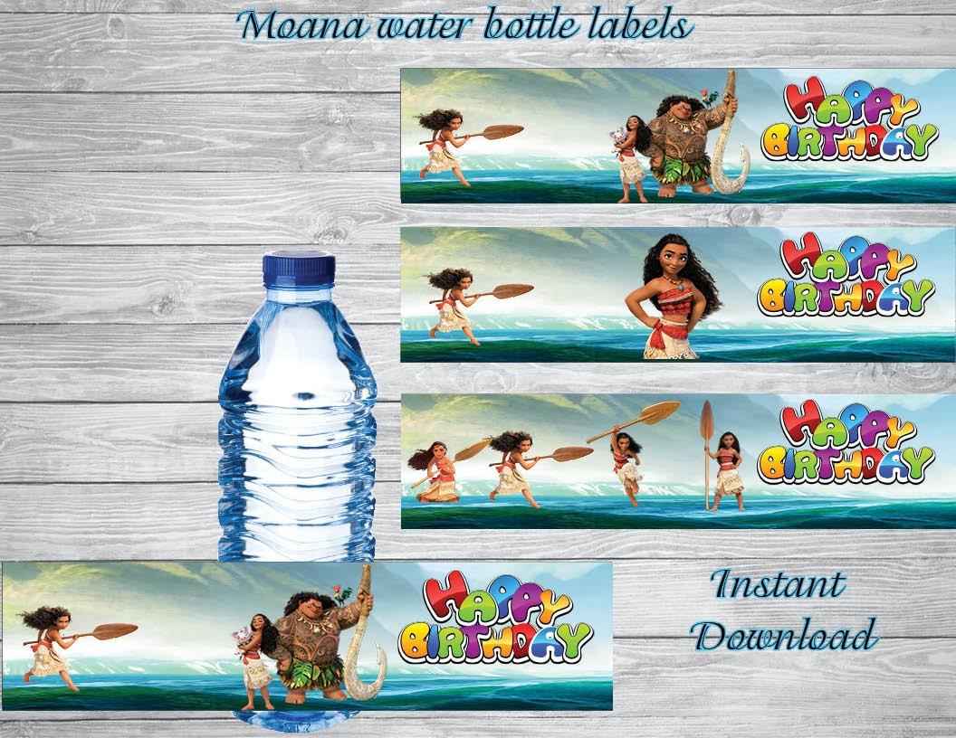 Para imprimir moana botella de agua etiquetas partido de - Casa del agua cumpleanos ...