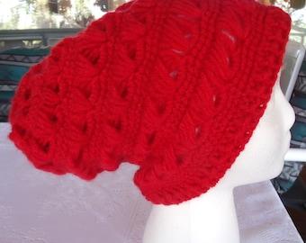 Warm crochet slouchy beanie for women