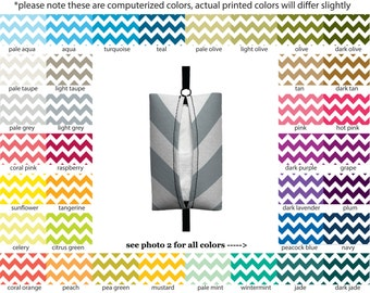 Auto Sneeze - Chevron - PICK YOUR COLOR - Visor Tissue Case/Cozy - Car Accessory Automobile zig zag zigzag