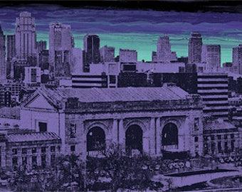 Violet Skyline - reproduction