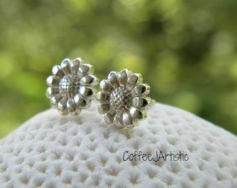Sunflowers Earrings Silver (925)