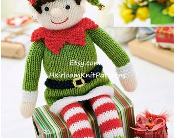 Knit Christmas Elf Pattern Christmas Toy Knitting Pattern Baby Holiday Seasonal Christmas Decoration Instant Download PDF - 9