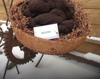 Willow's worsted weight Cormo x yarn made in vermont