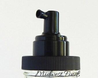 Foaming Pump for Mason Jar, Rustproof soap dispenser lid, black plastic, DIY