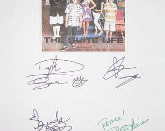 The Suite Life On Deck Signed TV Script Screenplay Autographs Dylan Cole Sprouse Brenda Song Phill Lewis signature kids sit com