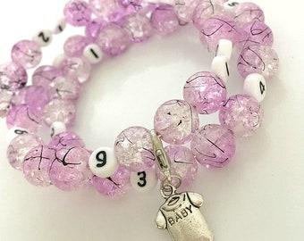 Beaded Reminder Bracelet, nursing bracelet, Breastfeeding, pregnancy bracelet, baby shower gift, new mum gift