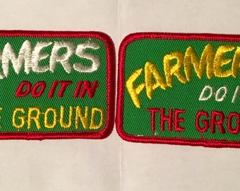 Farmers Do It In The Ground Risque Vintage Rare Retro L@@K