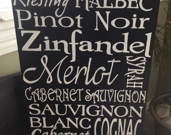 Reclaimed Wood Wine Sign