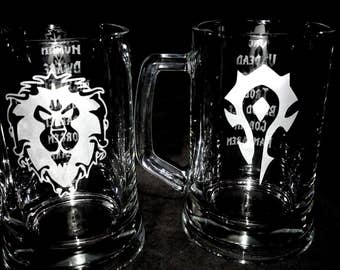 World of Warcraft - Horde and Alliance Tankards
