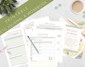 Printable 12 Week Keto Journal & Workbook - 8.5x11 Letter Size PDF