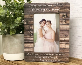 Matron Of Honor Gift• Matron Of Honor Frame•Maid Of Honor Gift• Maid Of Honor Frame•Personalized Frame•Wedding Favor