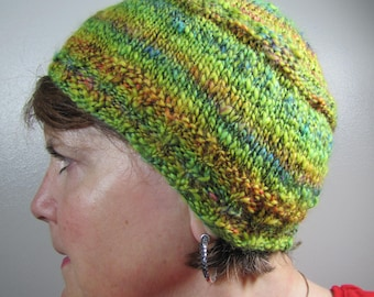 Knit Hat - Greeny Beany