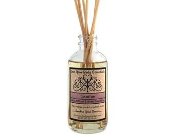 Jasmine diffuser air freshener, home fragrance jasmine reed diffuser refill home fragrance fragrance oil  floral room fragrance oil