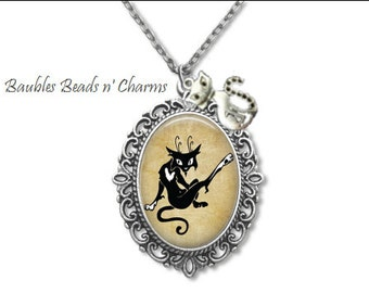 Sassy Cat-1 Pendant Necklace Jewelry, Cat Art Necklace Jewelry, Cat Photo Charm Necklace, Cat Picture Charm Necklace