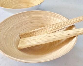 Handmade Bamboo Bowl - Natural