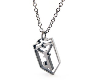 Ingress Resistance Key symbol Necklace - Stainless Steel