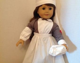 World War I British nurse outfit-18 inch doll clothes