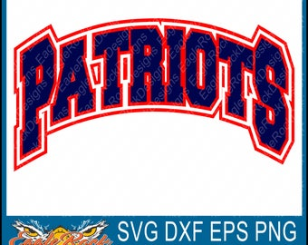 Patriots| SVG| DXF| EPS| Png| Cut File| Patriot Mascot| Football| Vector File| Silhouette| Cricut| Instant Download