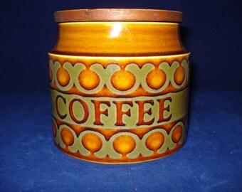 Hornsea coffee jar bronte pattern