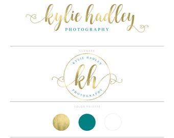 Gold Logo Heart Logo Photography Logo Watermark Lash Logo Makeup Artist Logo Branding Package Doula Logo Microblading Logo Design MUA Logo