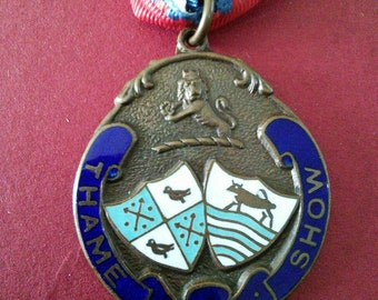 Original vintage British medallion 'Thame Show'