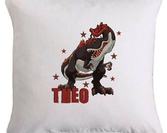 Dinosaur pillow personalized with the name of your choice