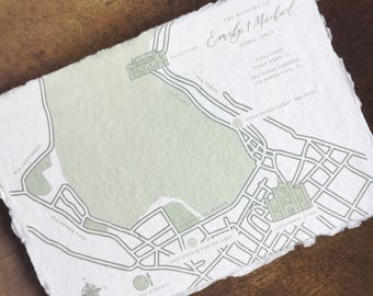 Illustrated Map // Wedding Map