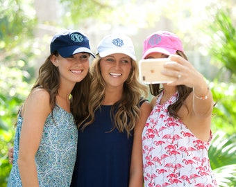 Monogrammed Baseball Cap - Preppy and cute...