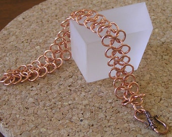 Copper Chainmail Bracelet, 4 in 1 Copper Chainmail Bracelet, Copper Chainmail Bracelet