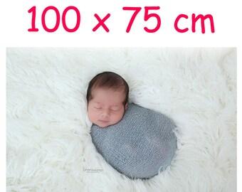 White, Faux fur, 100x75cm,Newborn Photo Props,Newborn ,Photography Props,Baby Props,Basket Stuffer,40x30 inch,photo rug