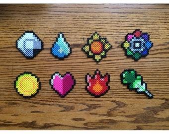 Pokemon Badges Perler Bead set